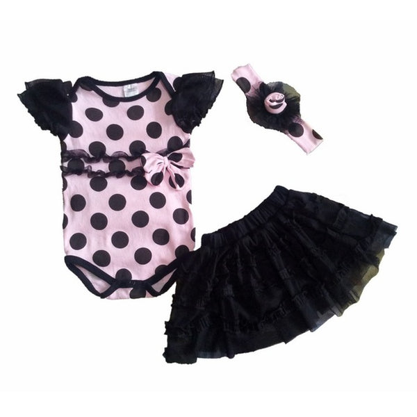 Short Romper,Tutu Skirt & Headband 3 PC Suits - Cotton Castles Luxury  Diaper Cakes