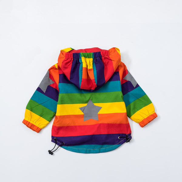 Rainbow Stripe Jacket - Cotton Castles Luxury  Diaper Cakes