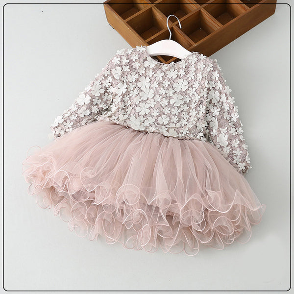 Floral Tutu Elegant Dress - Cotton Castles Luxury  Diaper Cakes