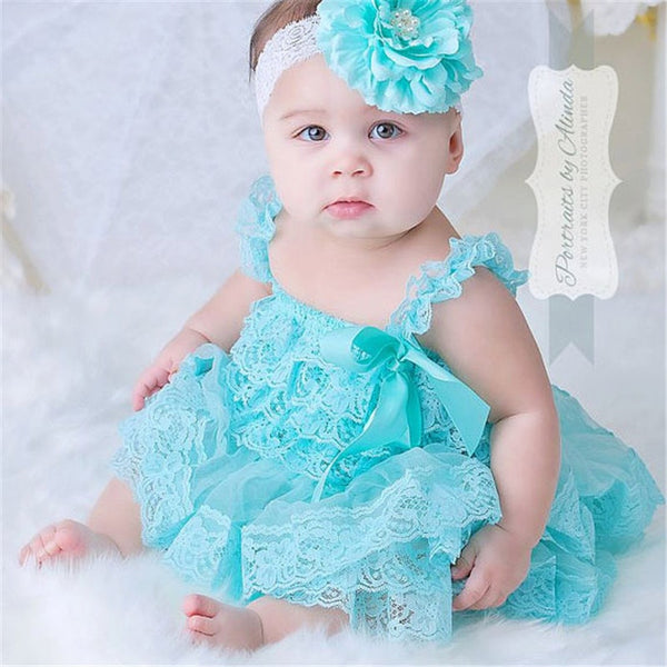 Lace Chiffon Toddler Dress