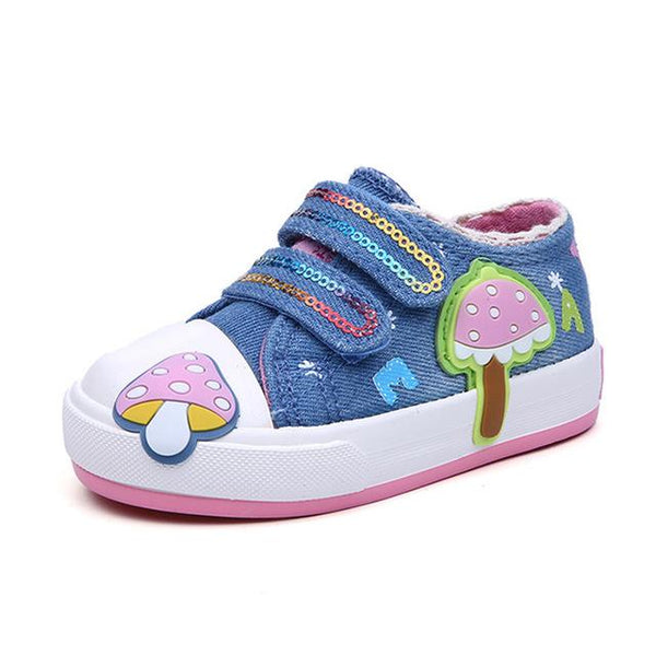 Jeans Canvas Toddler Shoes - Cotton Castles Luxury  Diaper Cakes