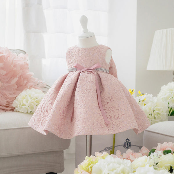 Newborn Baby Girl Dresses with Cap - Cotton Castles Luxury  Diaper Cakes