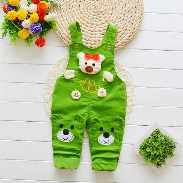 Cartoon Pants Overalls - Cotton Castles Luxury  Diaper Cakes