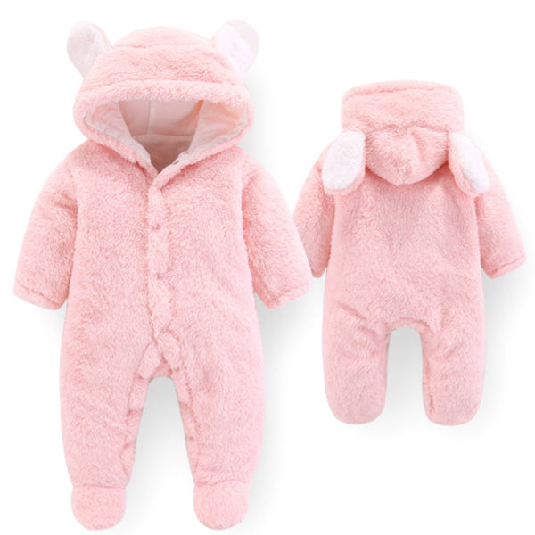 Fleece Bear New Born Jumpsuit