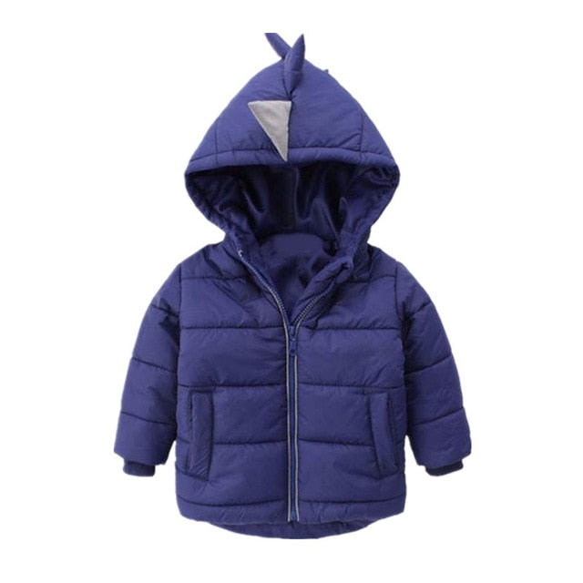 Boys Winter Long Sleeve Hooded Jacket - Cotton Castles Luxury  Diaper Cakes