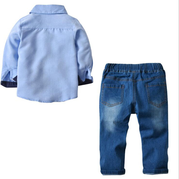 Boys Spring  Cotton T-shirt+Jeans