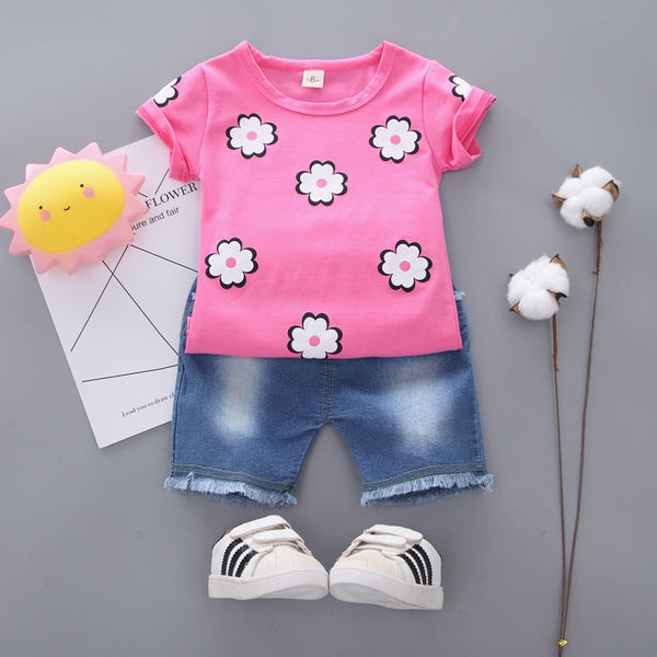 Flowers Newborn baby girl Clothes Sets