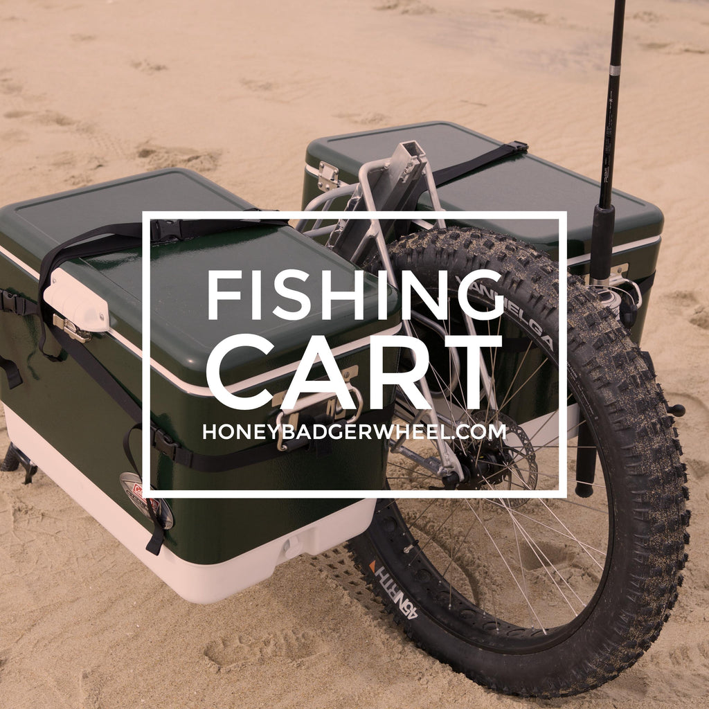 honey badger wheel surf fishing cart