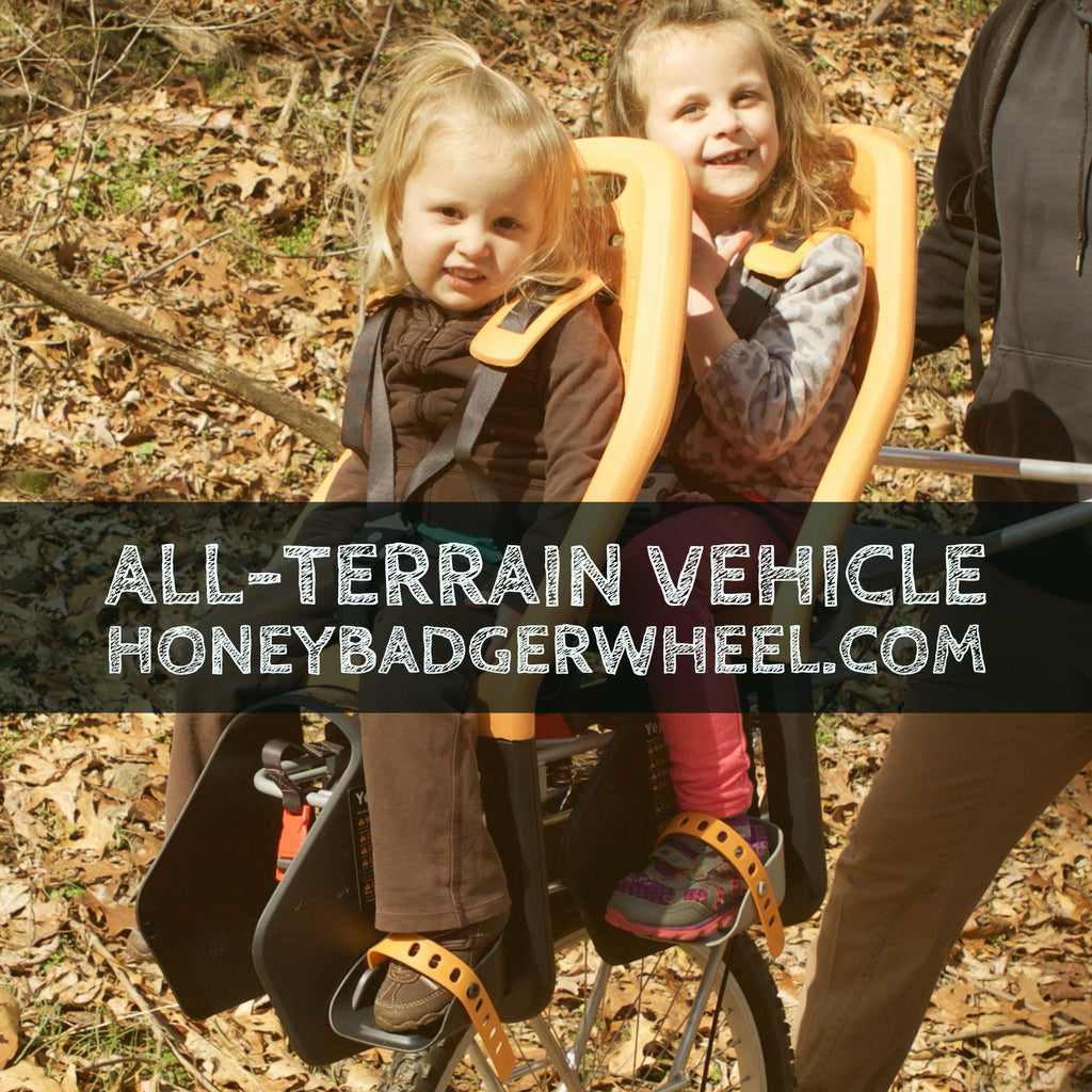 honey badger wheel hiking with kids