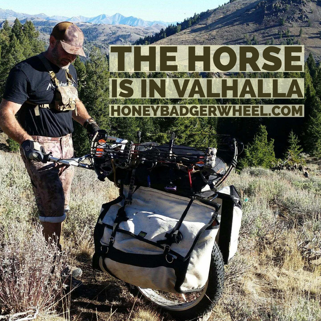 honey badger wheel electric hunting cart
