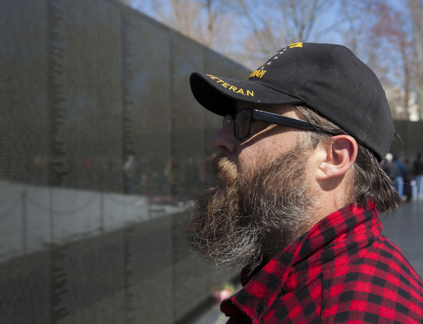 Joe at the Vietnam Veteran Memorial