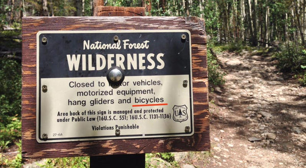 game carts not allowed in wilderness