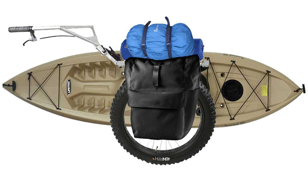 kayak cart with camping gear