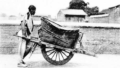 ancient chinese wheelbarrow