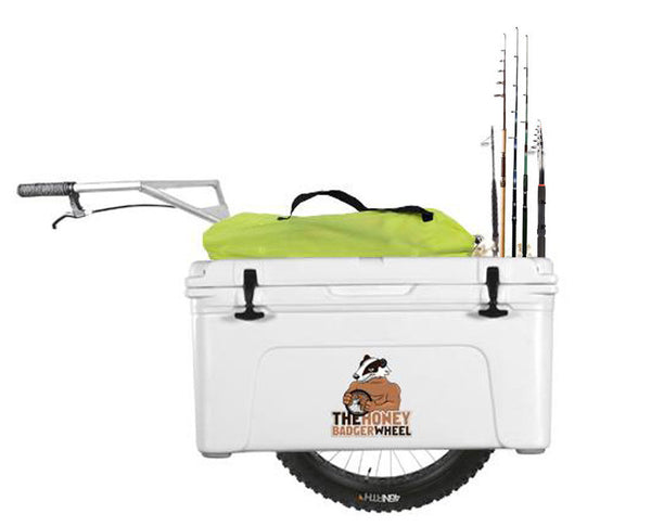 fishing cart with coolers