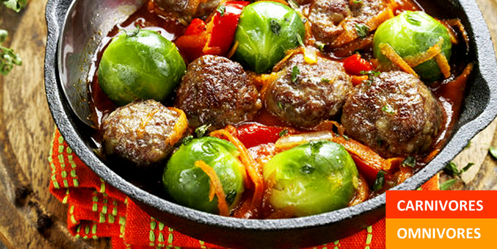 Pantry Boy Meatballs & Brussels Sprouts