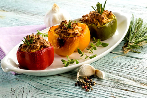 Pantryboy Tofu Stuffed Bell Peppers