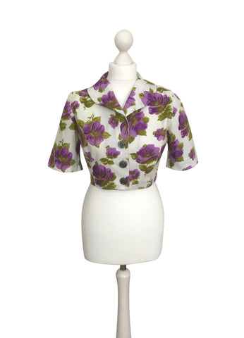 Bold And Beautiful 1950's Floral Jacket - hurdyburdy vintage