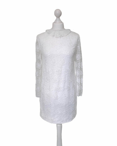 1960's Mini Length Wedding Dress - hurdyburdy vintage