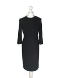 Black Lurex 80's Berkertex Dress