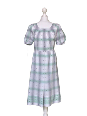 1970's Cotton Midi Dress - hurdyburdy vintage