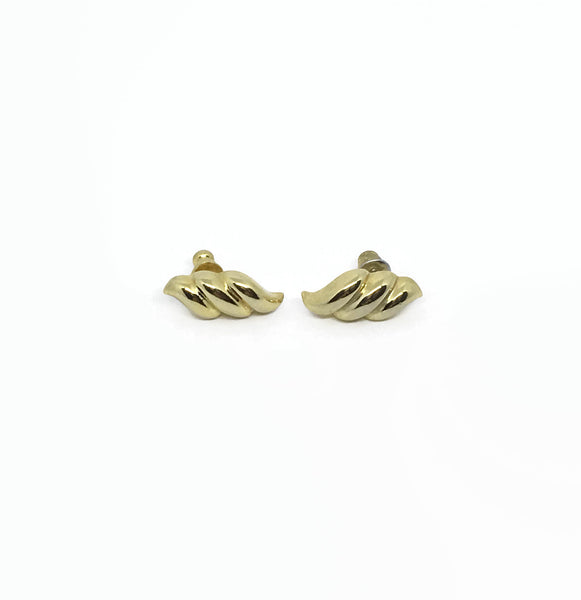 1980's Gold Swirl Earrings - hurdyburdy vintage