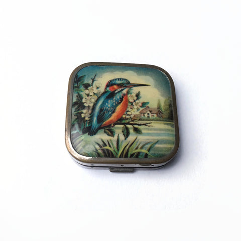 Rare 1930's Kingfisher Powder Compact