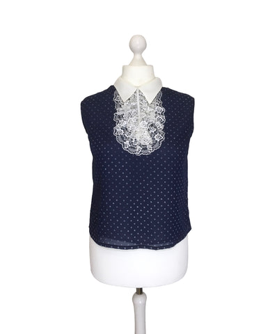 1960's Polka Dot Button Back Top