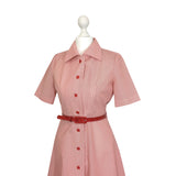 1970's Lollypop Red Stripe Shirtdress