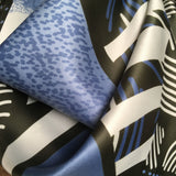 Italian Tie Rack scarf with panels of blue skies. hurdyburdy vintage