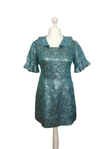 1960's Metallic Vintage Dress - hurdyburdy vintage