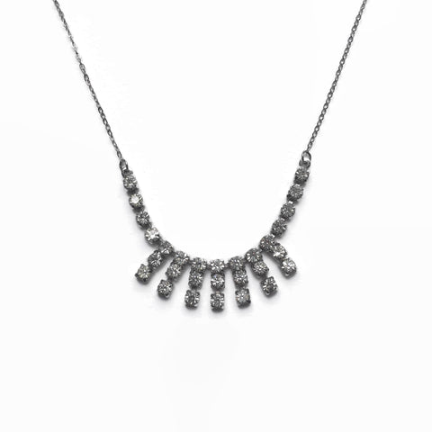 Vintage 1960s Diamante Necklace - hurdyburdy vintage