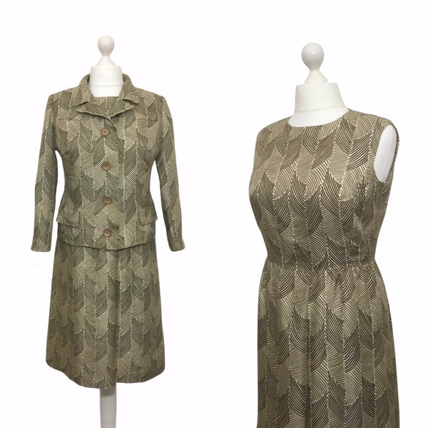 1960's Hardy Amies Couture Silk Dress Suit - hurdyburdy vintage