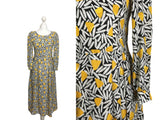 Jaunty Abstract Print Midi - hurdyburdy vintage