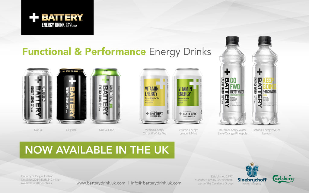 Battery Energy Drink Launches in UK & Ireland