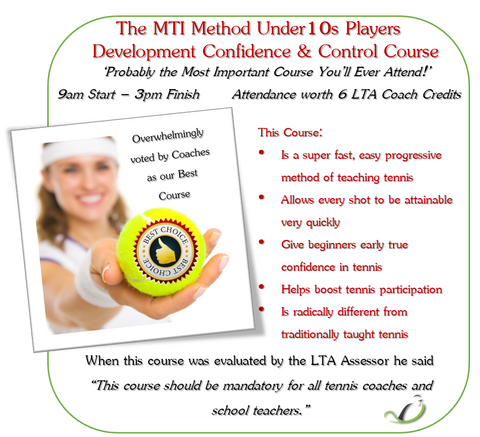 The MTI Method Under 10s Development Confidence & Control Course
