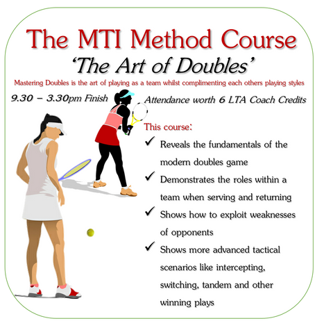 The Art of Doubles MTI Tennis Education Course