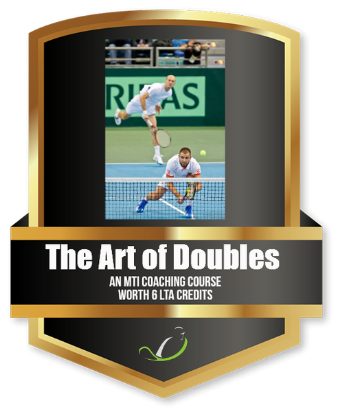 The Art of Doubles - Tennis Education Course from MTI - further discount available when you join MTI