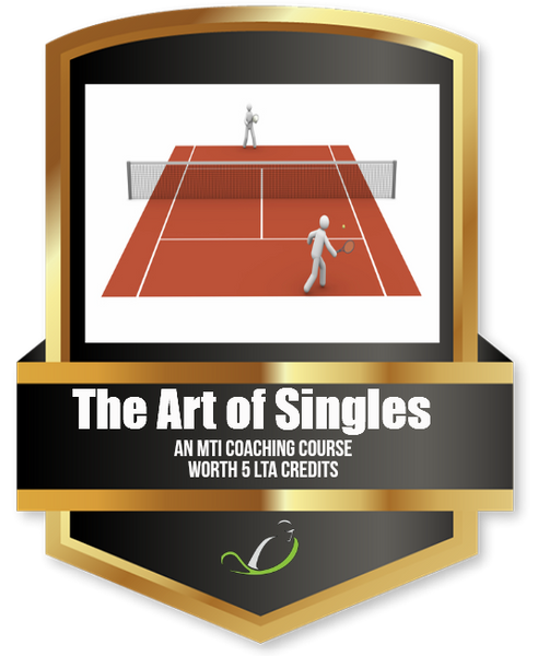 The Art of Singles - Tennis Education Course from MTI - further discount available when you join MTI