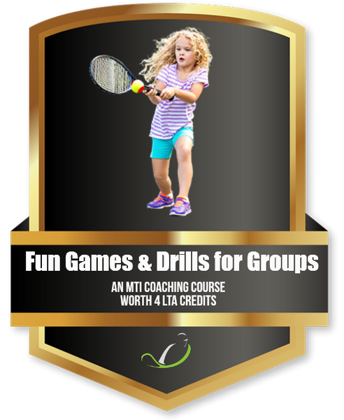 Fun Drills and Games for Groups - Tennis Education Course from MTI - further discount available when you join MTI