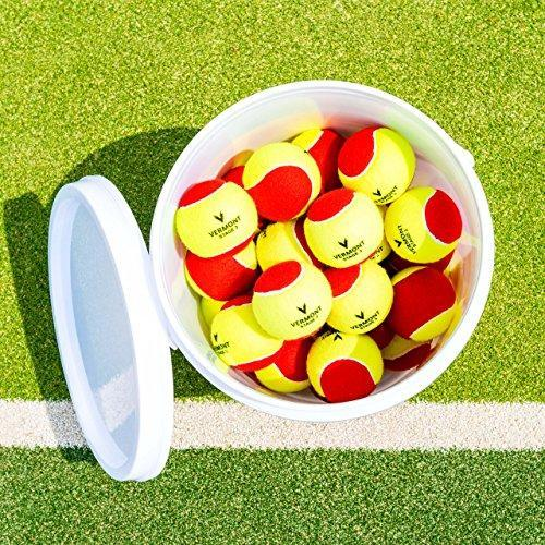 Vermont Mini Red Tennis Ball Bucket - 36 Balls (Shipping included) further discounts available with MTI Membership ('POA for non UK orders')