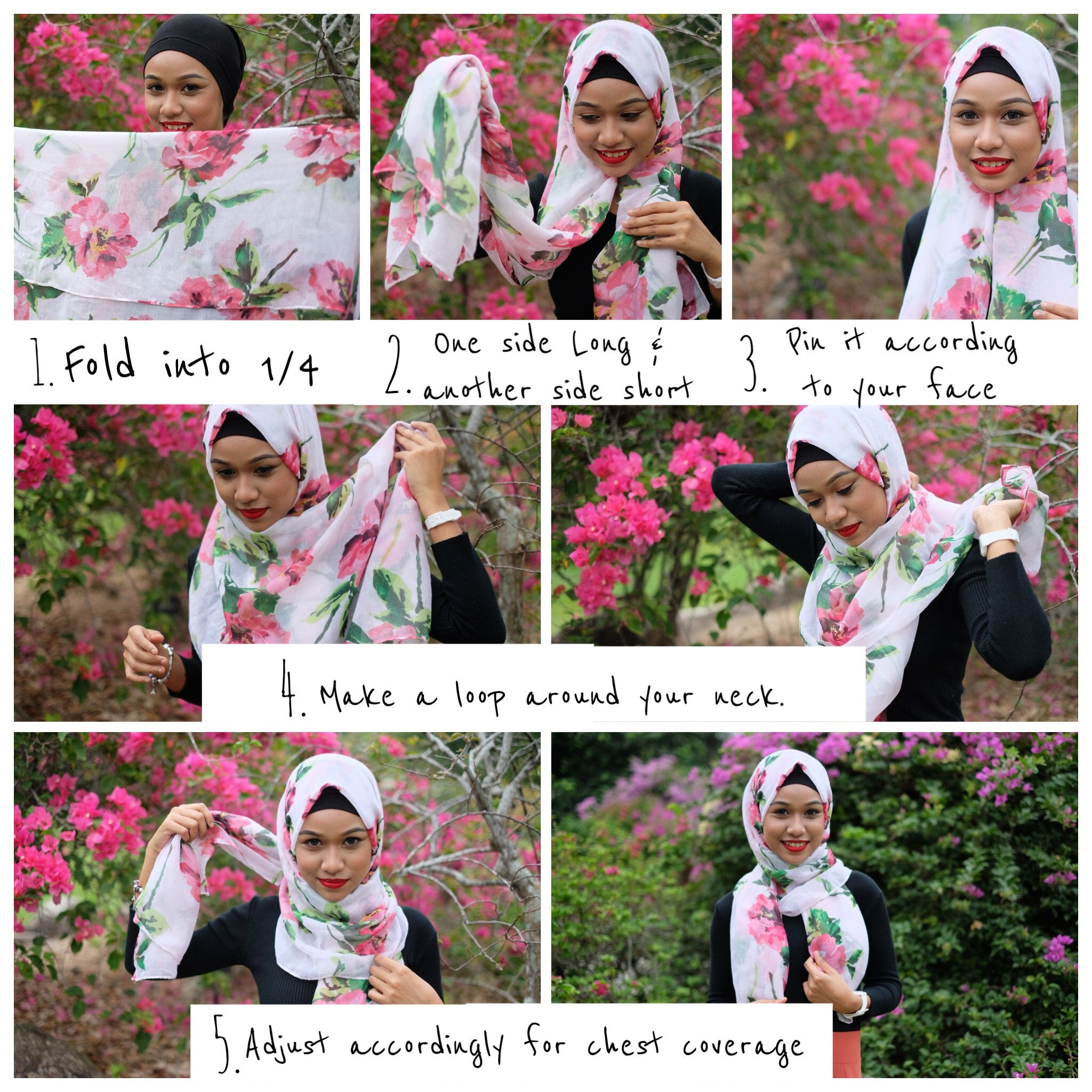 Hijab Tutorials using Maxi Shawls