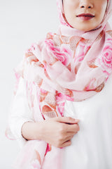 Printed Viscose Shawl - Bloom