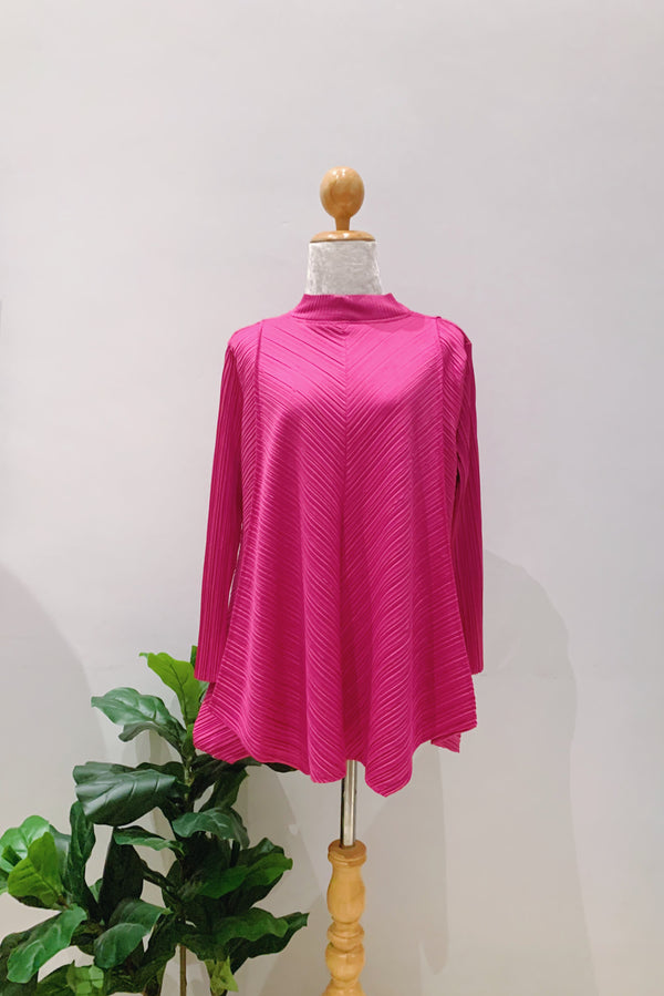 Asymmetrical Pleated Top