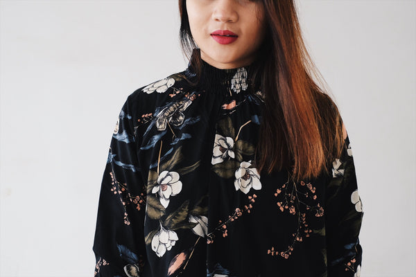 Collar Blouse - Tropical