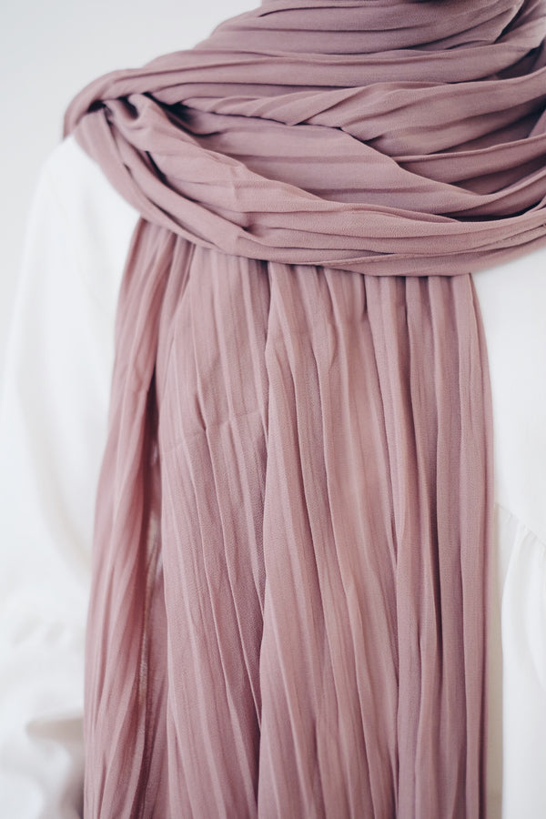 Pleated Chiffon Shawl