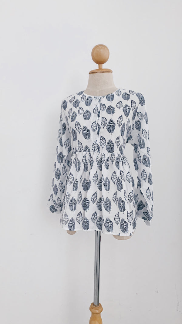 Button Doll Top - Leaf