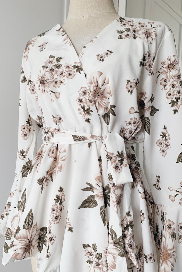 Asymmetrical Top - Floral Pulp