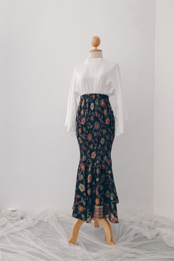 Mermaid Pleated Batik Skirt - Suhaila