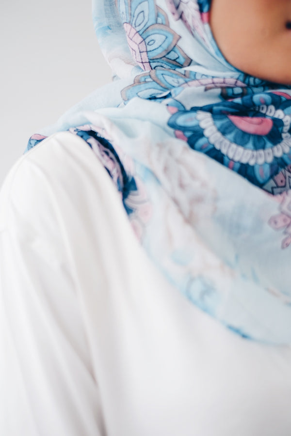 Printed Viscose Shawl - Roundley